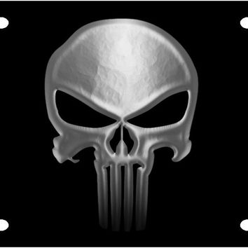Punisher Skull - License Plate Tag by Redeye Laserworks