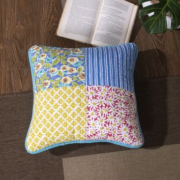 Tache Midsummer Dream Patchwork Quilted Cushion Cover, 18x18, 2 Piece (JHW-812-2PC-CC)
