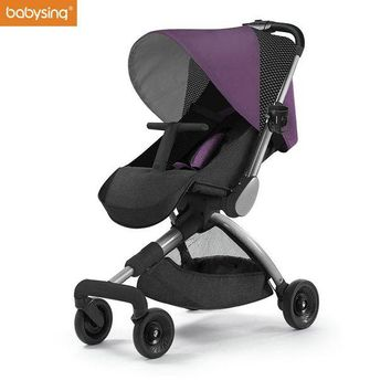 DCCKKFQ Babysing H-GO High Landscape Lightweight and Foldable Stroller Baby Pram Kids Pushchair Travel stroller on the Airplane