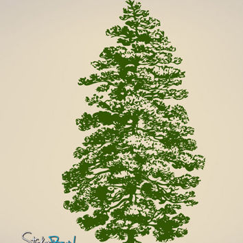 Vinyl Wall Decal Sticker Pine Tree #658