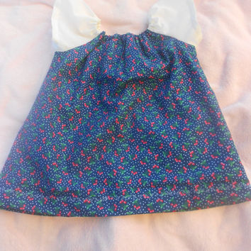 Toddler, Infant, Girls peasant dress with short sleeves