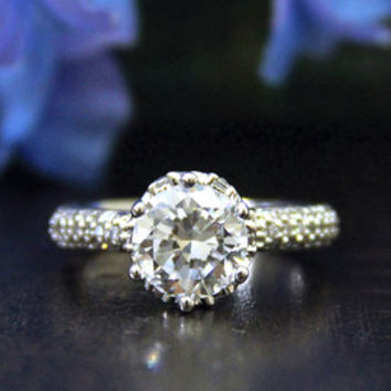 2.70 Carat-Brilliant Cut Diamond Simulant Engagement Ring-Bridal Ring-Wedding Ring-Promise Ring-Eternity Ring-925 Sterling Silver-R02712