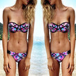Sexy Women Bikini Push-up Padded Floral Print Swimsuit Bra Swimwear Bathing Suit