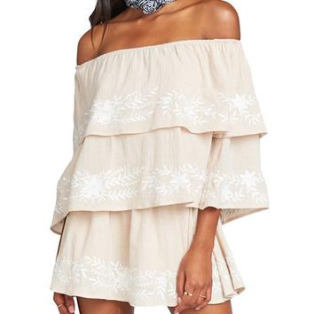 Lenora Floral Embroidered Romper