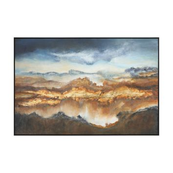 Valley of Light Hand Painted Landscape Artwork by Uttermost