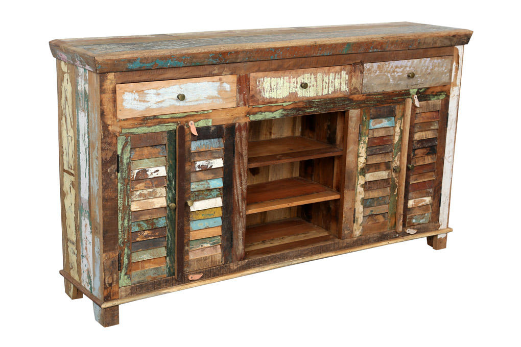 Reclaimed Indian Colorful Sideboard 2 from Wanderloot