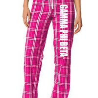 Gamma Phi Beta Pajamas - Flannel Plaid Pant