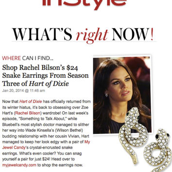Snake Earrings (As seen on Rachel Bilson & in InStyle Magazine)