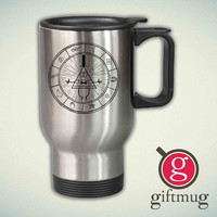Gravity Falls Map 14oz Stainless Steel Travel Mug