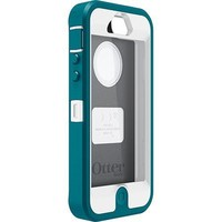 Teal Green & White OtterBox Defender Case for iPhone 5 ~ Holster not included