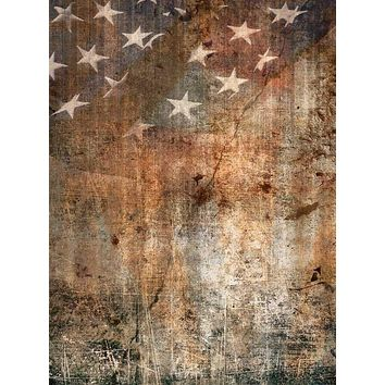 Printed American Flag Patriotic Grunge Backdrop - 1206