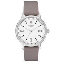 kate spade new york Crosby Bow Marker Grey Silicone Watch | Dillards