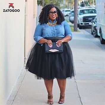 Bestseller! Plus Size 5 Layer Tulle Skirt - RTW - 5XL