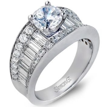 "Simon G. ""Simon Set"" Baguette Diamond Engagement Ring"