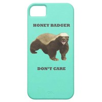 Honey Badger Don't Care Mint Green iPhone 5 Case