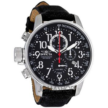 Invicta Lefty Force Chronograph Black Dial Stainless Steel Mens Watch 1512