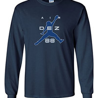 "Long Sleeve Dez Bryant Dallas Cowboys ""Air Dez"" T-Shirt ADULT 3XL"
