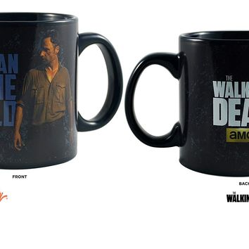 The Walking Dead Ceramic PREMIUM Coffee & Tea Mug / Cup - Novelty Funny Gifts & Vedio Games (Rick Grimes : THIS IS AN INSANE WORLD)