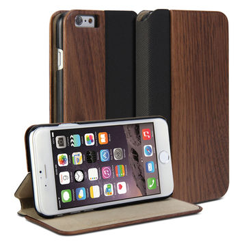 Wallet Case Wooden for iPhone 6