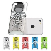 iPhone 5C Case, ESR Fancy Series Hard Clear Back Cover with Cute Patterns Snap on Case for iPhone 5c (Sneakers) ¡­