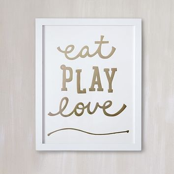 Eat. Play. Love. Wall Art by Minted®