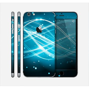 The Abstract Glowing Blue Swirls Skin for the Apple iPhone 6 Plus