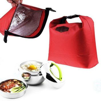 PEAP2Q fashion portable thermal insulated lunch bag cooler lunchbox storage bag lady carry picinic food tote insulation package