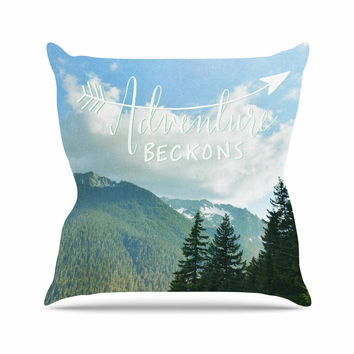 "Robin Dickinson ""Adventure Beckons"" Nature Landscape Outdoor Throw Pillow"