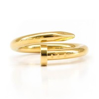 Yellow Gold Nail Ring