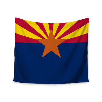 "Bruce Stanfield ""Flag Of Arizona"" Red Blue Wall Tapestry"