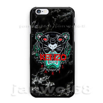 Kenzo Tiger Black Marble For iPhone 6 6s 6+ 6s+ 7 7+ Print On Hard Plastic Case