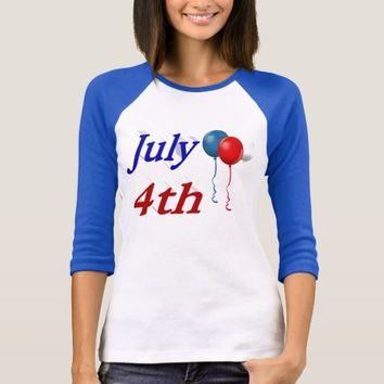 July 4th Red White Blue Balloons 3D Shirt