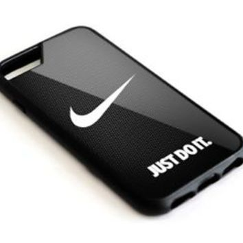 New-Nike Just Do It Black Texture iPhone 5 5s 6 6s 7 8 Plus SE Hard Plastic Case