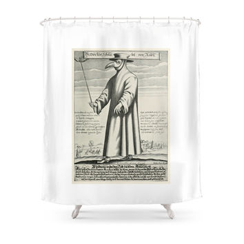 Society6 Plague Doctor Shower Curtains