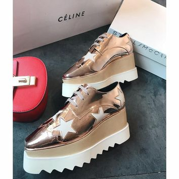 Celine STELL McC RTNEY Star Shoes Collection Classic Women's Shoes all rose gold
