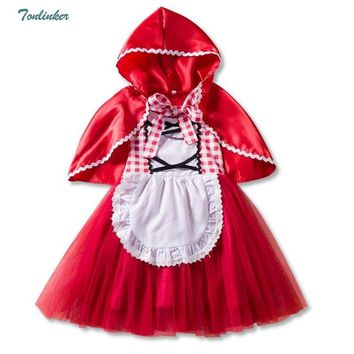 Cool Halloween Costumes For Girls Princess Little Red Riding Hood Tutu Dress And Cape Child Kids Christmas Cosplay Fancy Vestido 1-6TAT_93_12