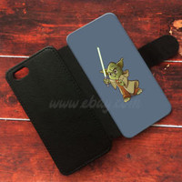 Cute Yoda Wallet iPhone cases Star Wars Samsung Wallet Leather Yoda Phone Case