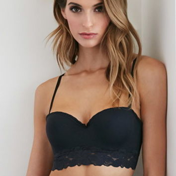 Lace-Trim Molded Bralette