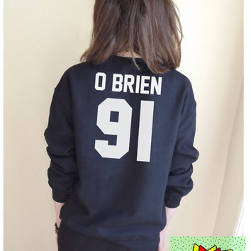 O Brien 91 Jumper Unisex Black or Grey S M L Tumblr Instagram Blogger