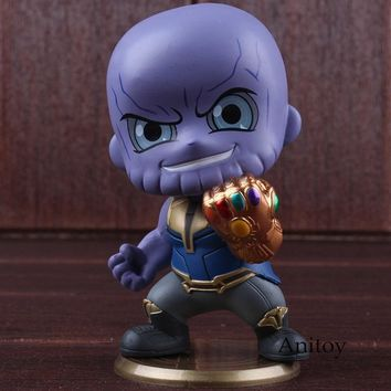 Marvel Avengers 3 Infinity War Thanos with Gauntlet Glove Action Figure PVC Collectible Model Toy Car Decoration Bobblehead Doll