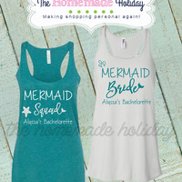 Mermaid Bride and Mermaid Squad Tanks