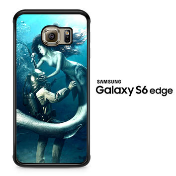 Diver and The Mermaid Samsung Galaxy S6 Edge Case