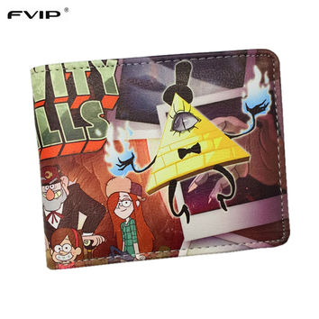 FVIP Gravity Falls Wallet Cartoon Characters Bill Cipher Dipper Pines Mabel Pines and The Simpsons Wallets Dollar Price