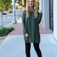 Army Green Piko Tunic/Dress