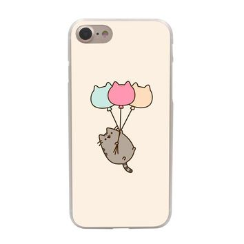 Lavaza lovely Pusheen Cat case for Apple iPhone 10 X 8 7 6 6s Plus 5 5S SE 5C 4 4S