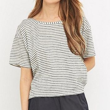 Sparkle & Fade Patch Pocket Black and White Striped T-shirt - Urban Outfitters