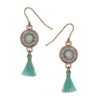 Tassel Drop Earrings - Turquoise