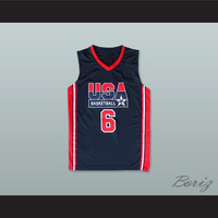 Patrick Ewing 6 USA Team Away Basketball Jersey