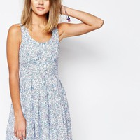 Jack Wills | Jack Wills Floral Print Button Front Dress at ASOS