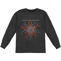 Alice In Chains Men's  Fossilised  Long Sleeve Heather Charcoal